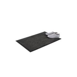 Fußmatte Schmutzfangmatte grau, relaxdays, Höhe 0.7 mm