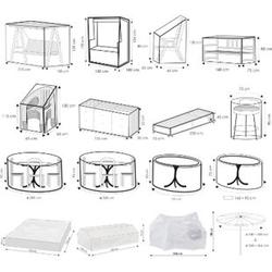 WEHNCKE Gartenmöbel Schutzhülle Hülle Plane Abdeckung Abdeckplane transparent PE Variante: Für Strandkorb