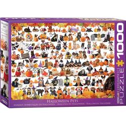 empireposter Puzzle Halloween Welpen und Kätzchen - 1000 Teile Puzzle im Format 68x48 cm, 1000 Puzzleteile