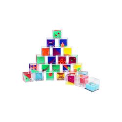 Wellgro Spielesammlung, 24er Set Geduldsspiele - je ca. 4 x 4 x 4 cm (LxBxH) - Geschicklichkeitsspiel, Geduldspiel, Mitgebsel, Spiel, Denksportaufgaben, Puzzle