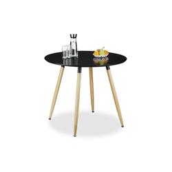 relaxdays Esstisch Runder Esstisch ARVID 90 cm schwarz