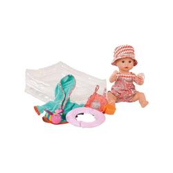 GÖTZ Babypuppe Aquini mit Schlafaugen und Bade-Set, 33cm