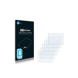 Savvies Schutzfolie für Sony DCR-DVD92E, (6 Stück), Folie Schutzfolie klar