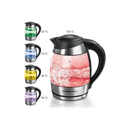 GOURMETmaxx Wasserkocher Glas-Wasserkocher, 1,8 l, 2200 W