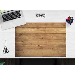 cover-your-desk.de Schreibtischaufsatz Schreibtischunterlage – Holz – 60 x 40 cm – aus hochwertigem Vinyl, (1-St)