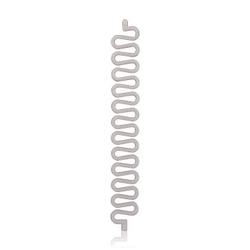 Solida y.e.s. Flechtspirale Weiß spirala do włosów  1 Stk