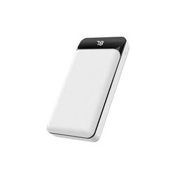 XO XO Powerbank 20000mAh Hoher Kapazität Display LED Anzeige Power Bank Externer Akku mit 2 USB Output Schnell ladung für Smartphone, Weiß Powerbank
