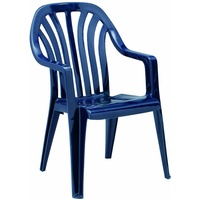 BEST Freizeitmöbel Laredo Stapelsessel 58 x 57 x 91 cm blau
