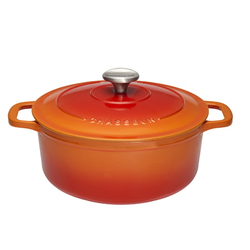 Chasseur Topf Rund 4 L Ø 24 cm Orange