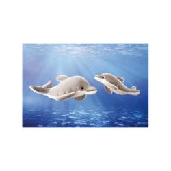 Kösen Kuscheltier Delfin grau weiß 19 cm (Stofftier Plüschtier)