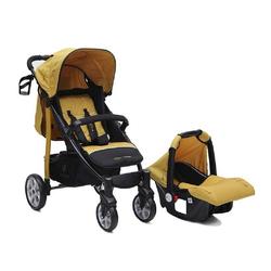 Cangaroo Kombi-Kinderwagen Kombikinderwagen Arrow 2 in 1, Babyschale, Vorderräder 360° schwenkbar