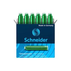 6 Schneider Tintenpatronen 6604 für Füller, grün