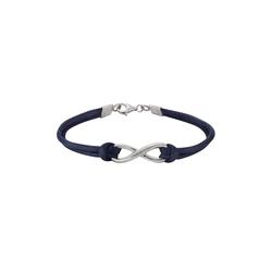 Zeeme Armband 925/- Sterling Silber Textilarmband blau