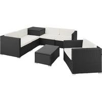 Tectake Pisa Lounge-Set schwarz