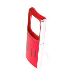 LED-Lupe mit LED-Beleuchtung und 3fach Vergrösserung Farbe Rot