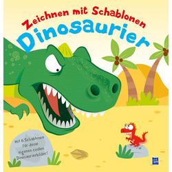 Zeichnen mit Schablonen - Dinosaurier als Buch von