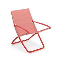 Liegestuhl Snooze Emu Group rot, Designer Chiaramonte & Marin, 105x75x91 cm