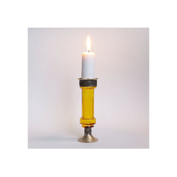 Casa Moro Kerzenständer Orientalischer Kerzenständer marokkanische Kerzenleuchter Manar, Kerzenhalter für romantische Beleuchtung Kerzenlicht & Dekoration, gelb