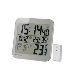 BRESSER Wanduhr MyTime LCD Wetter-Wanduhr