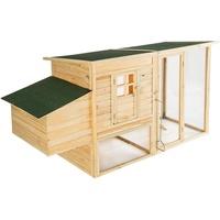 Tectake Kleintierstall aus Holz 198x75x102cm