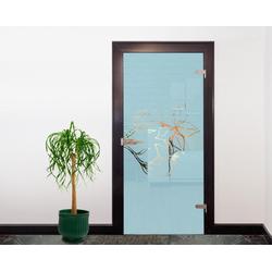 Bilderdepot24 Deco-Panel, Glasdekor Tattoo Türfolie - Blüten I - 90 x 200 cm
