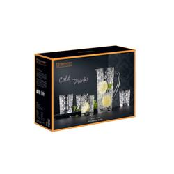 Nachtmann Gläser-Set Bossa Nova Trinkglas Krug Set (5-tlg), Kristallglas