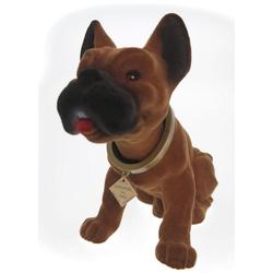 Kremers Schatzkiste Dekofigur Wackelkopfhund Boxer Puli Hund Figur 30 cm Wackeldackel
