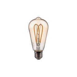 BUTLERS Tischleuchte BRIGHT LIGHT LED-Glühbirne ST64
