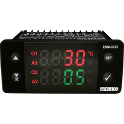 Emko ESM-3723.2.3.5.0.1/01.01/1.0.0.0 2-Punkt und PID Regler Temperaturregler NTC 0 bis 100°C Relai