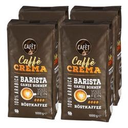 Cafet Cafe Crema Ganze Bohne 1000 g, 4er Pack