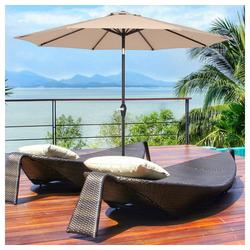 muchen Sonnenschirm Sonnenschirm 270 cm Kurbelschirm Gartenschirm Terrassenschirm Wasserabweisend UV-Schutz Sonnenschutz Neigbar für Garten, Balkon, Terrasse grün
