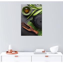 Posterlounge Wandbild, Asiatische Teeschale und Teekanne 60 cm x 90 cm