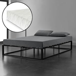 En.casa Metallbett 180x200 Schwarz Mit Matratze Design Bett Schlafzimmer Metall