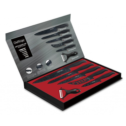 Cheffinger Messerblock Messer Kochmesser Sparschäler Messerset 6-tlg. Cheffinger CF-MB01