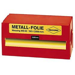 Record Metallfolie Messing 150x2500x0 025mm