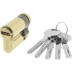 Yale YL63010LT Sicherheitszylinder, YL6, Langhebel, Schlüssel, Messing, 30 x 10 mm