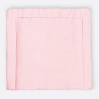 KraftKids Wickelauflage kleine Blätter rosa auf Weiß, extra Weich (500 g/qm), mit antiallergenem Vlies gefüllt 75 cm x 70 cm