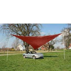 Sonnensegel Dreieck rot 5 x 5 x 5 m Tragetasche Sonnenschutz Beschattung