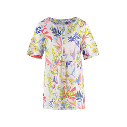 Deerberg Damen Tunika Gemalie weiß-bedruckt Bluse