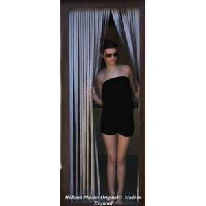 Holland Plastics Original Brand Robuste Fensterblende, Fliegenschutz, Streifenblende, Türblende - Silber (90cm breit)