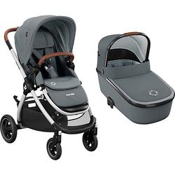 Sportwagen Adorra + Kinderwagenaufsatz Oria, Essential Grey