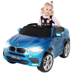 Elektroauto BMW X6M SUV Kinderauto Elektrofahrzeug Kinder Elektro Auto Spielzeug (Weiß)