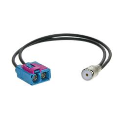 Antennenadapter Doppel-Fakra > ISO Audi / Seat / Skoda / VW