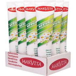 Marvita Zahncreme, Zahnpasta in der 125 ml Tube, Sorte: Kräuter sensitive