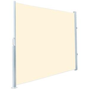 Seitenmarkise 120 x 200 cm, für Garten, Balkon und Terrasse, beige