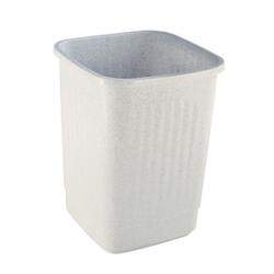 Bekaform Papierkorb, 9 Liter, granit, Quadratischer Mülleimer aus Kunststoff, Farbe: granit, Volumen: 9 Liter