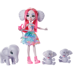 Enchantimals Anziehpuppe Enchantimals - Esmeralda Elephant Family