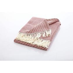 Tagesdecke Edle und kuschelige Decke mit Fransen, søstre & brødre rosa
