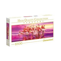 Clementoni® Puzzle Panorama Puzzle 1000 Teile - Flamingos, Puzzleteile
