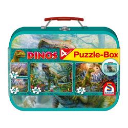 Schmidt Spiele Puzzle Puzzle-Box Dinos 2x60, 2x100 Teile, 320 Puzzleteile